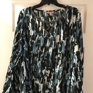 Juicy Couture XL embellished watercolor blouse